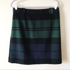 Talbots    Wool Blend Plaid Skirt Size 10